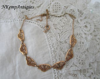 Chain necklace 1930's for re-purpose