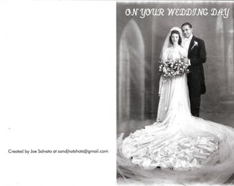 Beautiful Personally Created Wedding Day Card Personally Created With My Parents Photo
