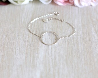 1 925 Sterling Silver Circle bracelet