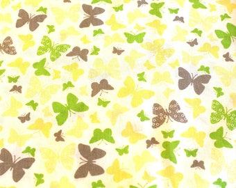 Fabric coupon butterflies 50 x 70 cm