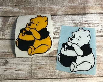 Winnie The Pooh Bear Vinyl Decal Car Laptop Wine Glass Sticker