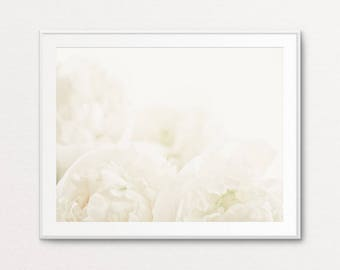 Peonies Photo - Peonies Print, Floral Photography, White Peonies, Home Decor, Dreamy Photo, Ethereal Photo, Floral Wall Art, Floral Print