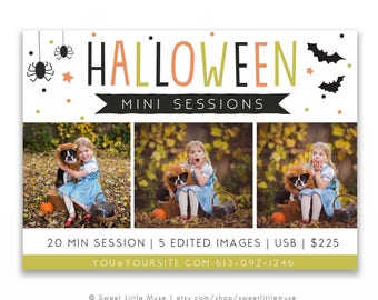 Halloween Mini Session Template, photography marketing template, mini session template - INSTANT DOWNLOAD