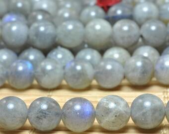 60 pcs of Natural Labradorite smooth round beads in 6mm (02276#)