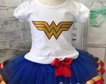 wonder woman tutu, wonder woman outfit, wonder woman birthday, wonder woman birthday outfit, wonder woman shirt, wonder woman birthday shirt