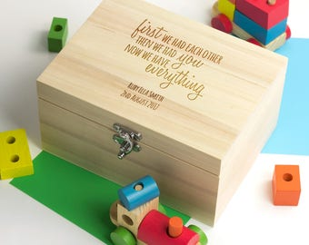 Personalised New Baby Keepsake Box - We Have Everything - Memory Box - Wooden Keepsake Box : keepsake box baby - Aboutintivar.Com