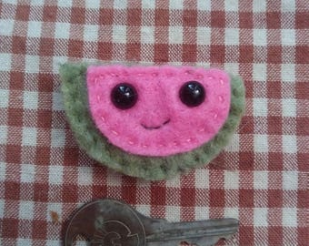 Watermelon magnet or pin