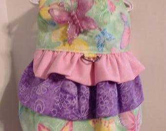 Ruffled Butterfly Harness Dress Size Small - Handmade - NEW