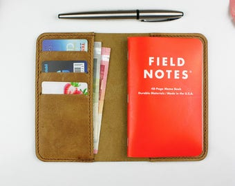Field Notes Cover, Notebook wallet, Field Notes leather wallet