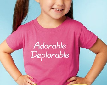 trump onesie or toddler shirt - adorable deplorable      trump baby gift