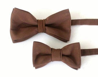 Bow-tie,  children bow tie,baby bow, father-son set,brown,coutry style
