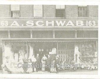 Vintage Postcard - A Schwab - 163 Beale Street - Memphis Tennessee