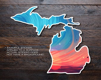 Michigan Mitten Vinyl Decal Sticker A4