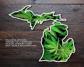 Michigan Mitten Vinyl Decal Sticker A21