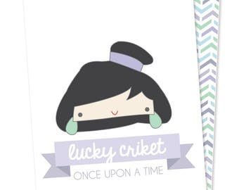 Once Upon stationery - Mulan - cards printed on recycled paper