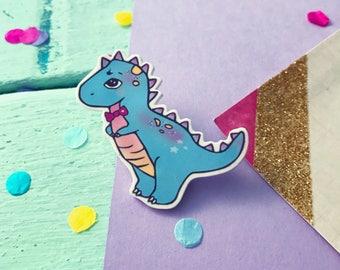 Dinosaur brooch / dinosaur lover gift