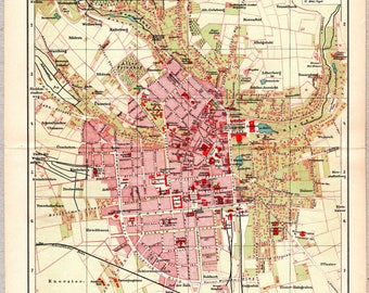Vintage map of Wiesbaden from 1903 #00206