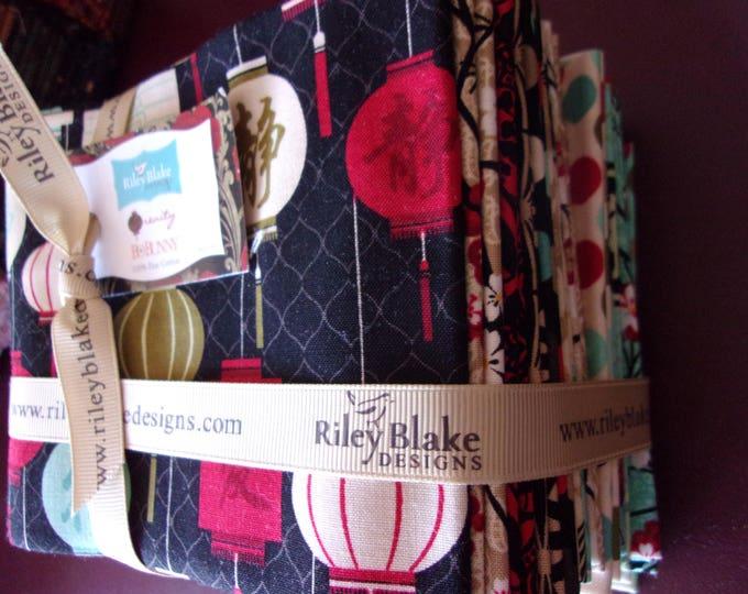 Riley Blake Serenity 17 Fat Quarter Bundle Cotton Fabric