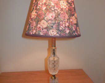 crystal lamp mini light with or without the wallpaper print clipon shade