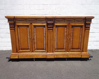 Century Buffet Console Sideboard Credenza Storage Hutch Regency Country French Provincial Neoclassical Dining TV Cabinet CUSTOM PAINT Avail
