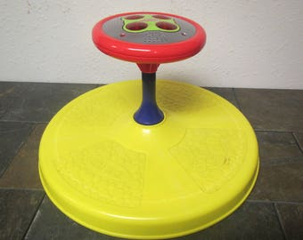 vintage 1973 TONKA PLAYSKOOL  Sit n Spin * Musical childs toy  lights up, ride on toy ** # SS5