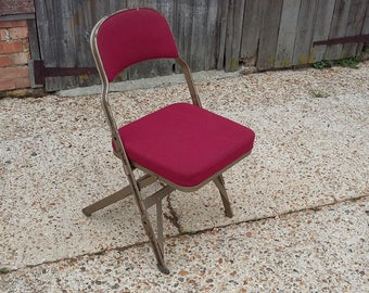 Vintage Retro Industrial Fold Up Chair