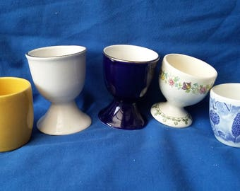 5 Vintage Egg Cups Various 1 Masons Madrigal