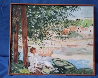 A Hand Painted Oil Copy of Monet River.