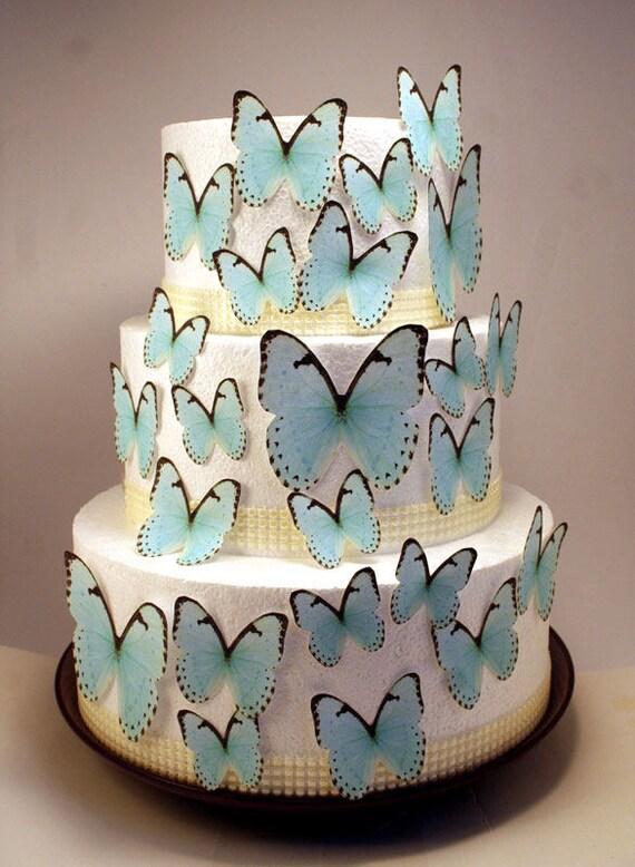 papillon comestible gâteau décorations des papillons