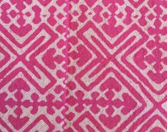 Hmong candy pink BATIK cotton fabric