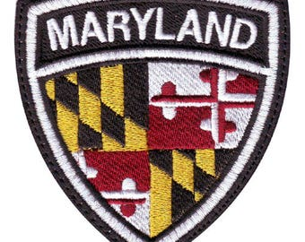 Maryland Crest Flag Embroidered Patch
