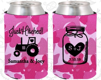 pink camo wedding pink camo can coolers pink camo wedding favors pink camo