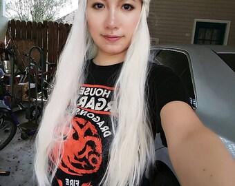 Daenerys Targaryen Platinum Blonde Cosplay Wig