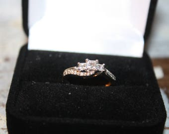 Diamond and 10K White Gold Ring