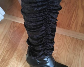 Stevie Nicks inspired velvet leg warmers