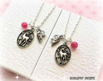 Unicorn best friends gift - Best friends necklaces - Unicorn necklace - Unicorn friendship gift - Best friends jewellery - Gift for girls