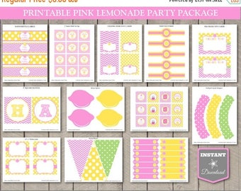 SALE INSTANT DOWNLOAD Pink Lemonade Printable Birthday Party Package / Diy Printables / Pink Lemonade Collection / Item #400