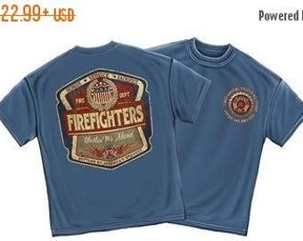 15% OFF SALE Firefighter United We Stand Denim Fade T-Shirt Sku: Ff2099