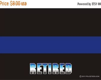 15% OFF SALE Thin Blue Line Retired Decal SKU: D1032-0001