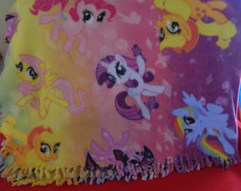 my pony fleece blanket and pillows