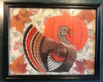 Thanksgiving Turkey framed art