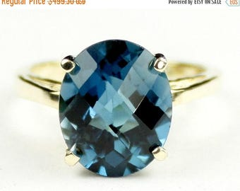 On Sale, 30%Off, London Blue Topaz, 10Ky Gold Ring, R055