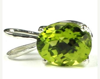 On Sale, 20% Off, Peridot, 925 Sterling Silver Pendant, SP002