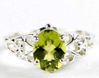 On Sale, 20% Off, Peridot, 925 Sterling Silver Ring, SR302