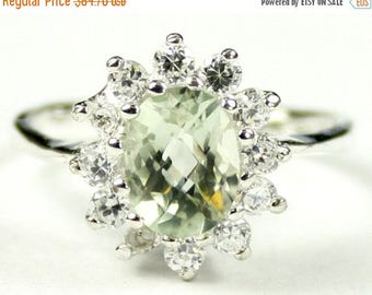 On Sale, 30% Off, Green Amethyst (Prasiolite), 925 Sterling Silver Ring, SR235