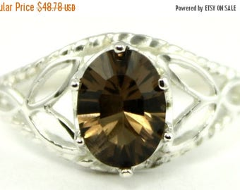 On Sale, 30% Off, Smoky Quartz, 925 Sterling Silver Ring, SR137