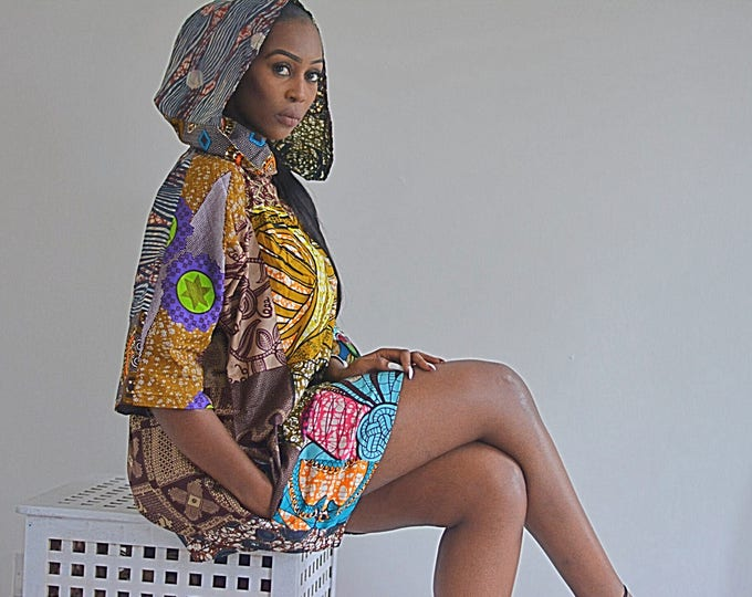 Featured listing image: Unisex hoodie traditional modern African clothing Festival Dresses