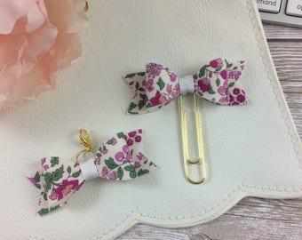 Planner Bow Clip or Charm // Planner Accessories // Bookmark // Lecien Memoire a Paris