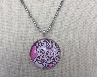 LIlly Pulitzer Alpha Phi necklace