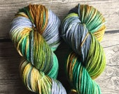 Home Is Behind You and the World is Ahead - Superwash Merino Hand Dyed Yarn - Worsted Weight Yarn Hand Dyed